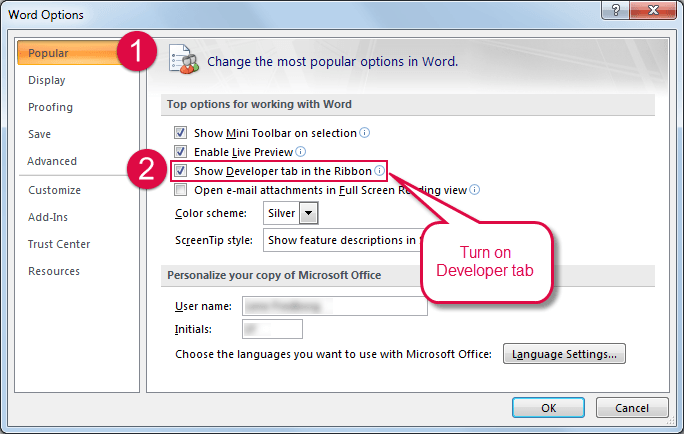 How To Show The Developer Tab In The Ribbon