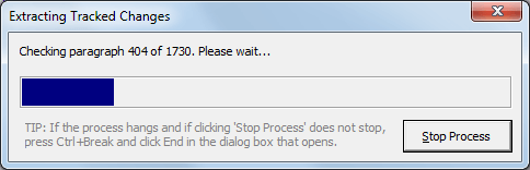 A progress bar is shown during the extract process